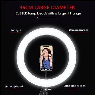 Extra Large Ring Light 14 inch 36cm Photography With Phone holder