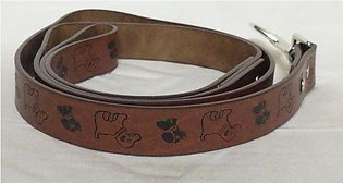 Dog & Cat Leach - Synthetic Leather- 1 Inches - Brown