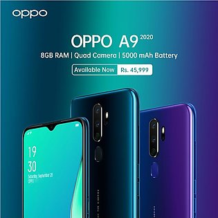 OPPO A9 2020 Mobile Phone - 6.53 FHD Display - 8GB RAM - 128GB ROM - Hybrid D...
