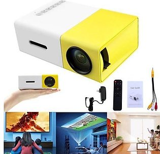 YG-300 1080P Home Theater Cinema USB HDMI AV SD Mini Portable HD LED Projecto...