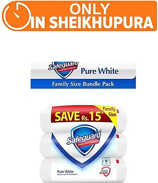 Safeguard white - pack of 3 (One Day Delivery in Sheikhupura)