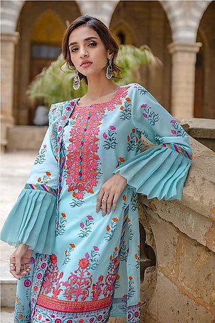 GA - GA - Gul Ahmed-Summer Collection 2019  Pista Lawn-2 PC Unstitched-TL-192...