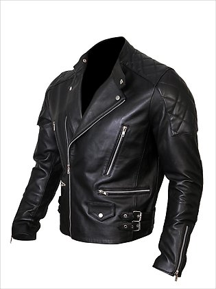 DE - MARCA Real Leather Jacket Men, Stunning Quilted Pattern Multiple Pockets...