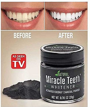 Natural Miracle Teeth Whitener With Natural Activated Charcoal