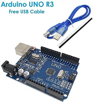 Arduino Uno R3 SMD With USB Cable MEGA328P ( ATMEGA16U2 )