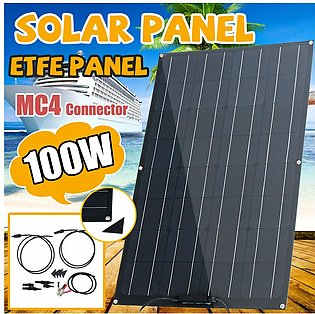 ETFE 100W Flexible Solar Panel Module Kit Car Boat Charger Dual MC4 Controller