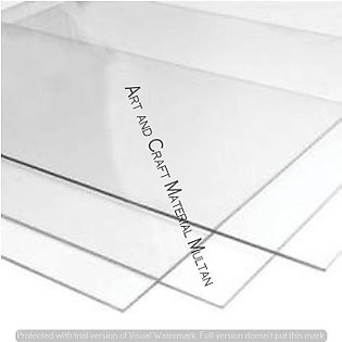 2mm Transparent Acrylic Sheet 08 x 12 Inches
