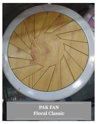 PAK FAN CEILING 56 INCH FLORAL CLASSIC OFFWHITE LIGHT WOOD