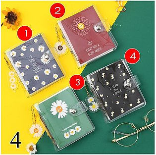 70 Sheets Portable Mini Notebook Cute Transparent 3 Ring Loose-leaf Hand Book  …