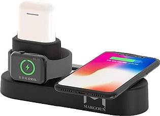 4 in 1 Wireless Charger Charging Stand Dock Station for iphone , ipad , Apple...