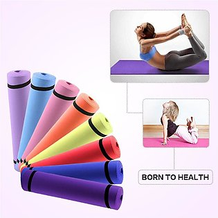 Multipurpose Protective Camping & Gym Yoga Mat for Excercise - Multicolor