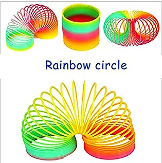 pack of 9 - Magic Slinky Rainbow Springs Bounce Fun Toy
