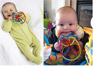 Baby Toys 3-12 Months Rattle and Sensory Teether Activity Rings Baby Feeder T...