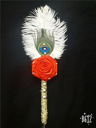 Nikkah pen peacock and ostrich feather