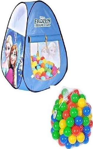 Pack Of 2 - Frozen Tent House And 50 Balls