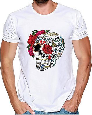 DingDong-Men Printing Tees Shirt Short Sleeve T Shirt Blouse