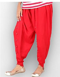 Red Cotton Tulip Shalwar for Women