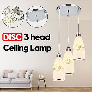 【To Global】3 Head Vintage Modern Ceiling Hanging Kitchen Pendant Lamp Glass Fix…