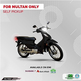 Power Scooty 70cc Black (Multan Only) 12-15 working days