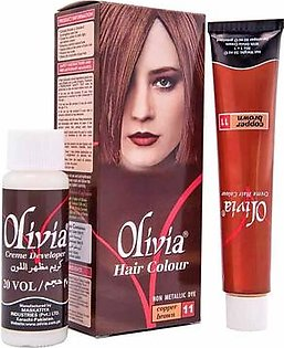Olivia Hair Color Natural Look -11 Copper Brown