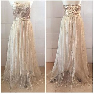 Women Prom Gown Maxi Party tail Evening Formal Wedding Long Dress