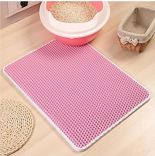 Bellylady Double Layer Hollow-out Leakage Proof Pet Litter Mat for Cats Cleaning