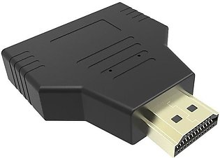 1080p 1 in 2 HDMI Splitter Adapter Male to Female Onversion Head
