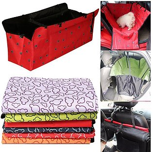 Green Dog Cat Seat Cover Safety Pet Waterproof Hammock Seat Cover Mat For Car
