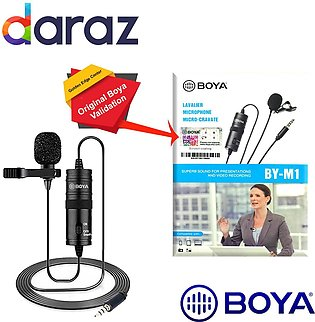 Boya Mic M1 Lavalier Collar Microphone for DSLR Camcorder & Android Phone