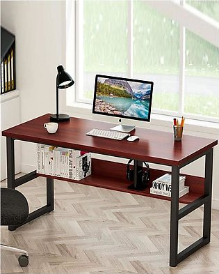 Office Table Desktop Table With Book Shelf Office Desk Book Shelf Laptop Tabl...
