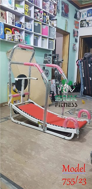Manual Treadmill Running Machine With Rollers And Twister Disc