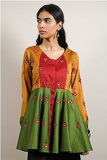 Generation-Pre Fall Collection Magyar Romance Top Cotton Satin Fusion-N29121T-ArmyGreen