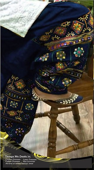 Cotton Embroidered Suit For Women