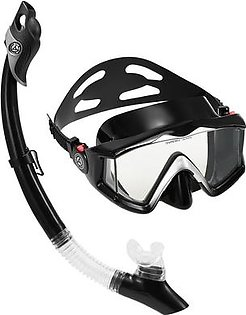 Snorkeling Mask Snorkel Set Anti-fog Three-window Panoramic Swimming Diving Goggles with Easy Breath Dry Snorkel Tube