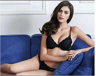 Black - Lace PushUp Bra and Panty Sets Transparent Embroidery
