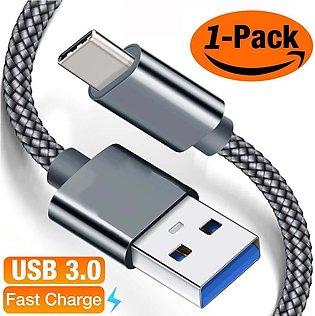 USB Type C Cable 3A Fast Charging, 6.6ft) USB-A to USB-C Charge Braided Cord ...