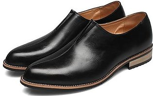 Fashion Men Stylish Pointed Toe Business Cow Leather Formal Dress Shoes