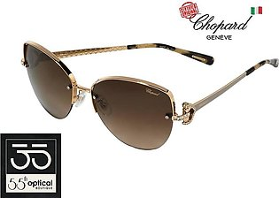 Chopard Sunglasses SCHC18 0358 Titanium Diamontes Rose Gold Polycarbonate Gradi…
