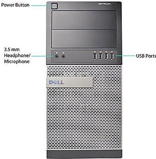 OptiPlex 790  Tower i3-2100 3.10GHz 4GB DDR3 RAM 500GB HD DVD-RW Windows 10 6...