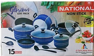 NATIONAL NONSTICK 15PCS COOKING SET HIGH QUALITY
