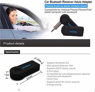 Bluetooth Music Audio Stereo Adapter Receiver for Car 3.5mm AUX Home Speaker MP…
