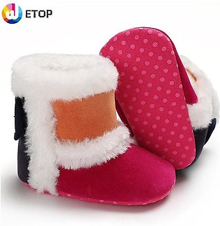 Baby Boots baby boots Soft Bottom Boots baby shoes girl girls boy toddler slipp…