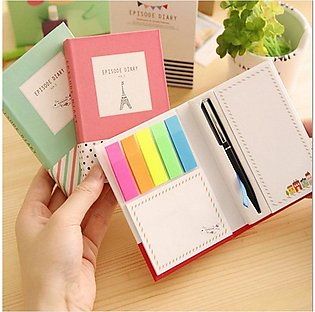 Kawaii Stationery Hardcover Memo Pad Post Notepad with a Ballponit Pen Sticky N…