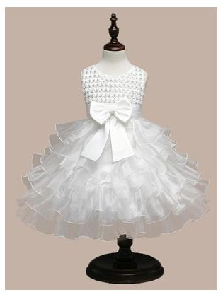 6 months to 8 years imported White floral high quality organza party wear frock for you baby girls birthday frock wedding frock function frocks