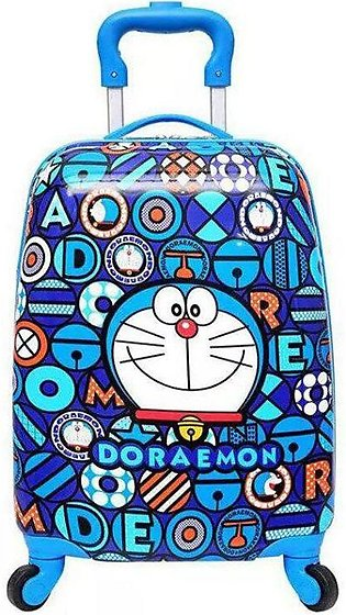 1x New Doraemon Cartoon Luggage Travel Trolley Bag Suitcase 4 Wheels Kids Tro...