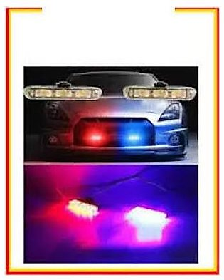 Car Front - Grill - Police - Strobe - Lights