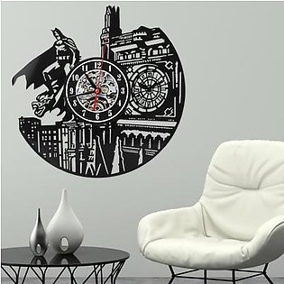 Batman London Vinyl Record Handmade Wall Clock Household Vintage Decor Wall Clock