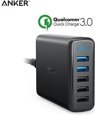 Quick Charger 3.0 63W 5-Port USB Wall Charger, PowerIQ PowerPort Speed 5 for Sa…