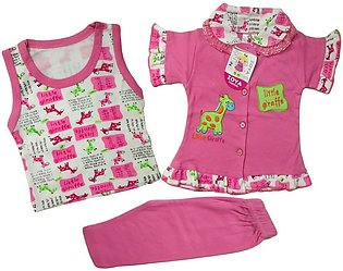 Baby girl frock with inner wear