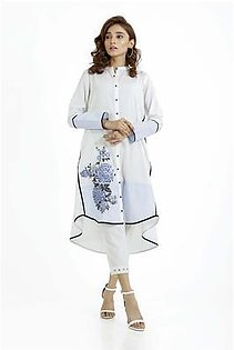 EGO Fall Collection 2019 Undivided Off White Cotton Kurti For Women